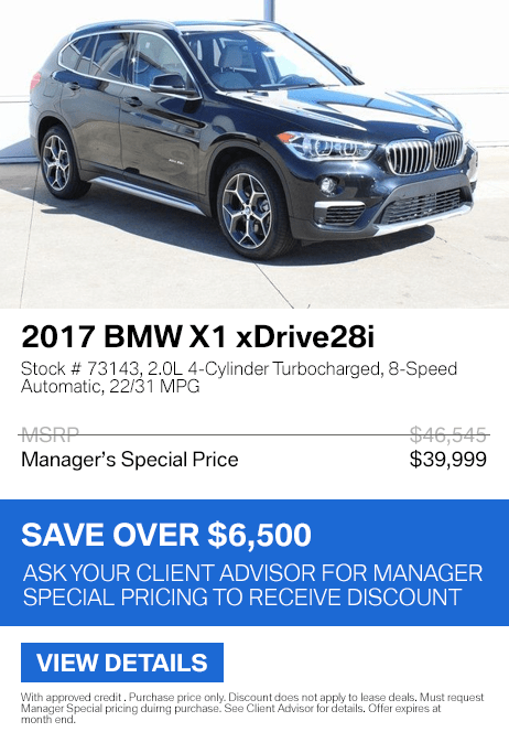 Save over $6,500 on this 2017 BMW X1 xDrive28i.