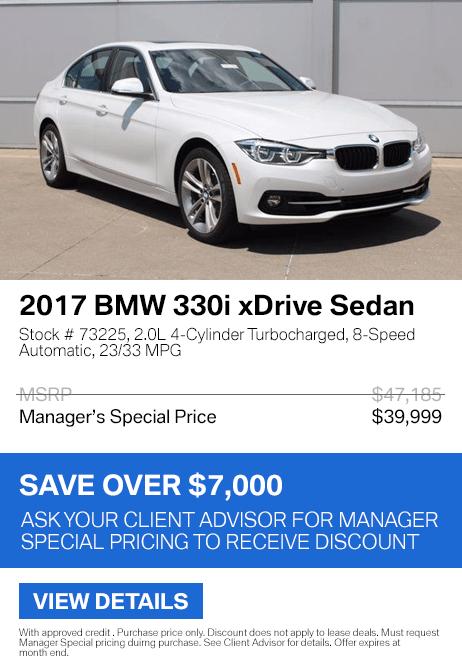 Save over $7,000 on this 2017 BMW 330i xDrive.