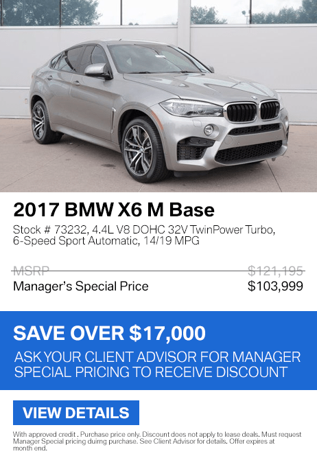 Save over $17,000 on this 2017 BMW X6 M xDrive Base.