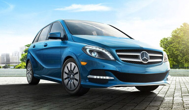 Mercedes-Benz B-Class front and side profile