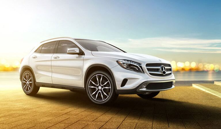 Mercedes-Benz GLA front and side profile