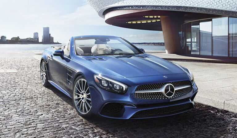Mercedes-Benz SL front and side profile