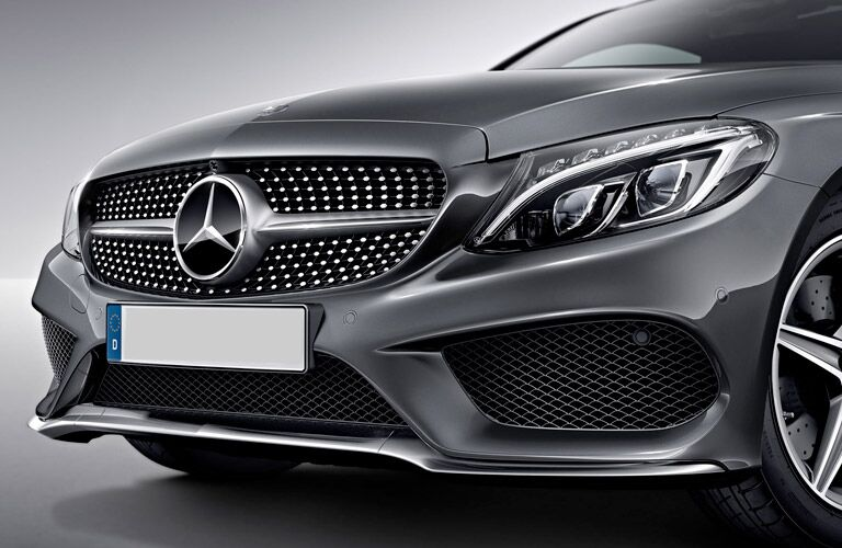 AMG C43 chrome diamond block grille