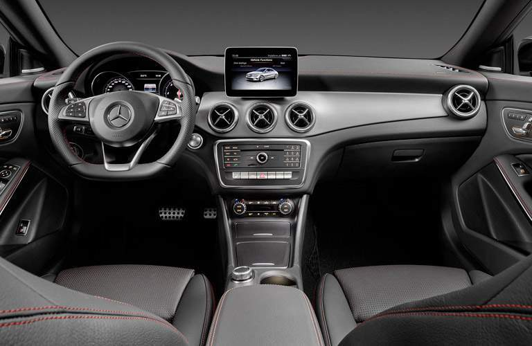 2017 Mercedes-Benz CLA front interior driver dash and infotainment system