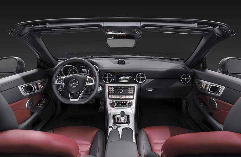 2017 Mercedes-AMG SLC43 front interior driver dash and infotainment system