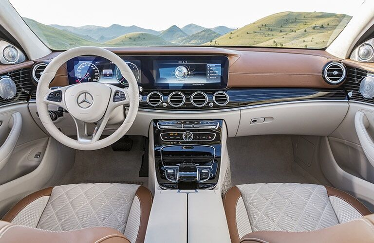 Interior of the 2017 Mercedes-Benz E-Class