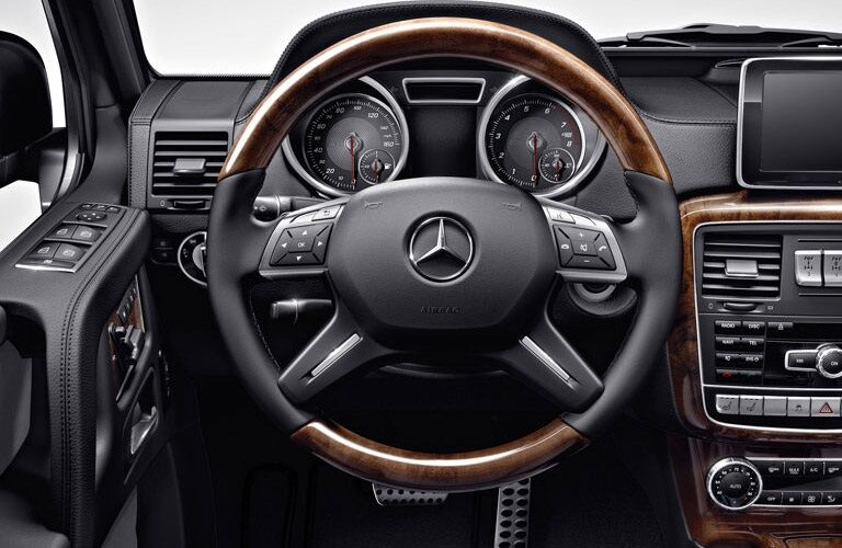 Steering wheel of the 2017 Mercedes-Benz G-Class