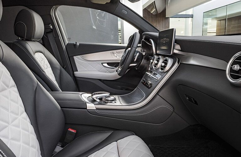 Interior front seats in the 2017 Mercedes-Benz GLC