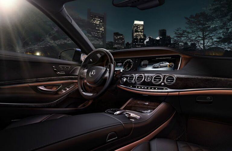 LED lights in the interior of the 2017 Mercedes-Benz S-Class