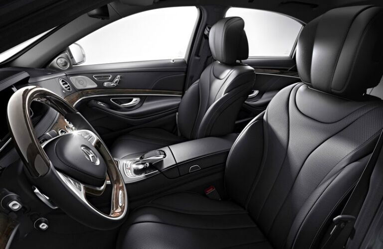 Front seats and steering wheel of 2017 Mercedes-Benz S-Class