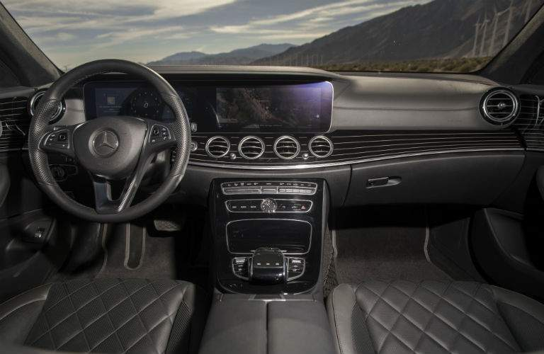 driver dash and infotainment system of a 2018 Mercedes-Benz E-Class Wagon