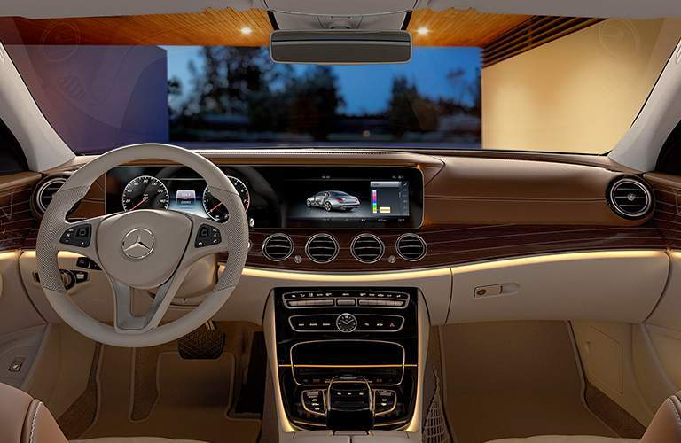driver dash and infotainment system of a 2018 Mercedes-Benz E-Class Sedan