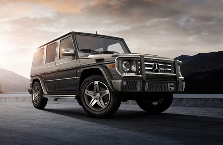 front view of a silver 2018 Mercedes-Benz G-Class