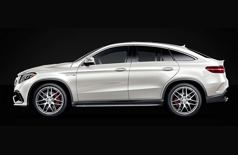 side view of 2018 mercedes-benz gle 350 suv against black background