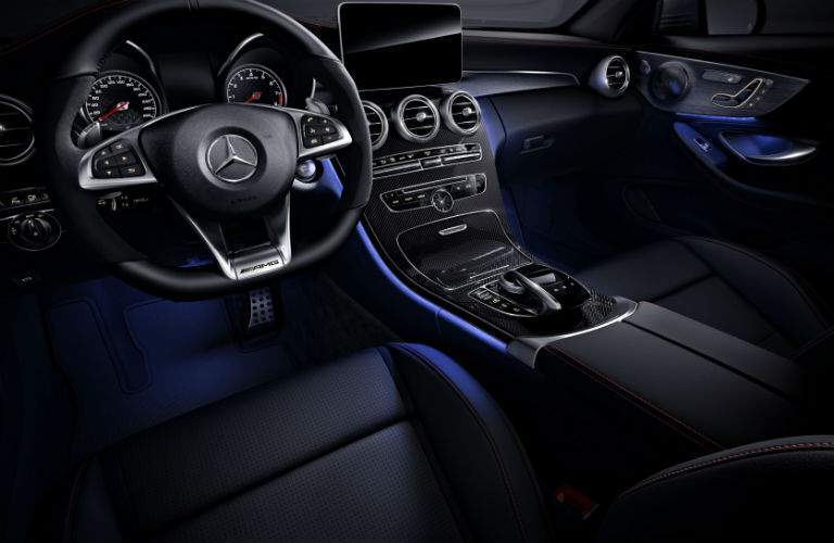 2018 Mercedes-Benz C-Class Coupe front interior passenger space