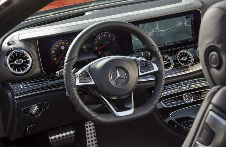2018 Mercedes-Benz E-Class Cabriolet front interior driver dash and infotainment system