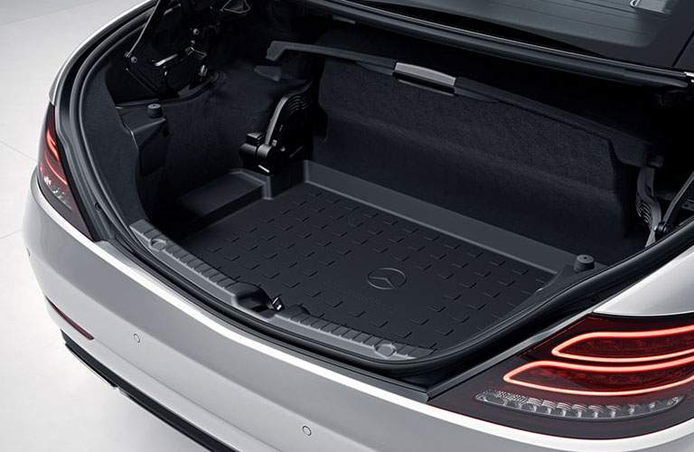 trunk space of a 2018 Mercedes-Benz SLC Roadster