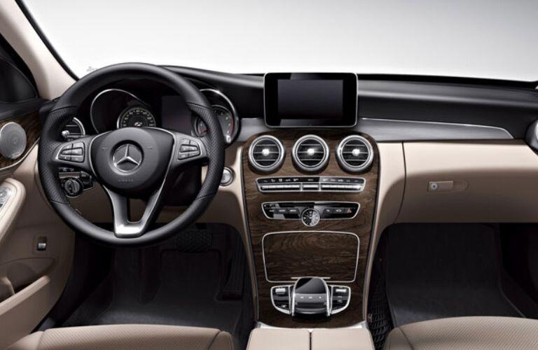 Cockpit view of the 2018 Mercedes-Benz C-Class