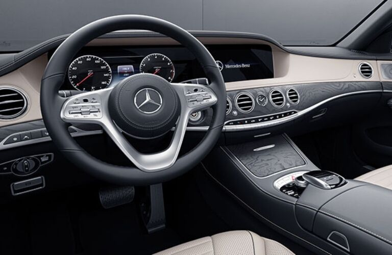 Cockpit view of a 2018 Mercedes-Benz S-Class