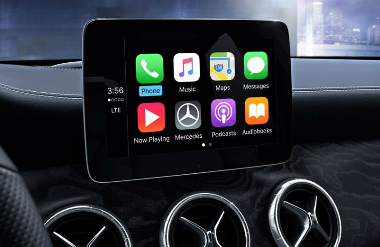 Infotainment system in the 2018 Mercedes-Benz CLA