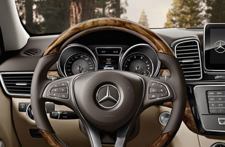 Steering wheel of the 2018 Mercedes-Benz GLE