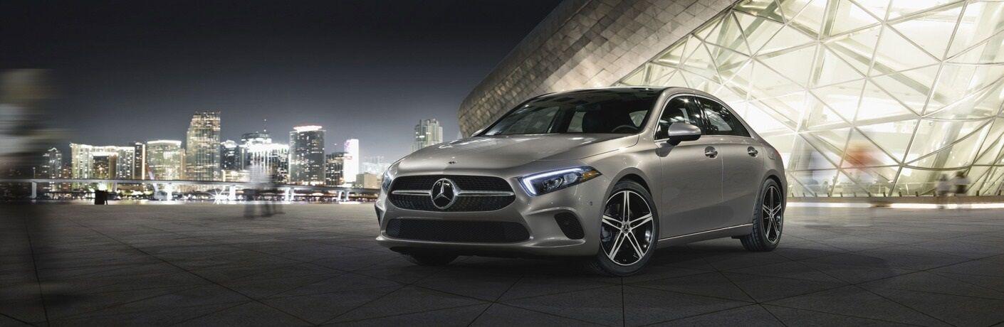 2019 Mercedes-Benz A-Class parked outside stadium
