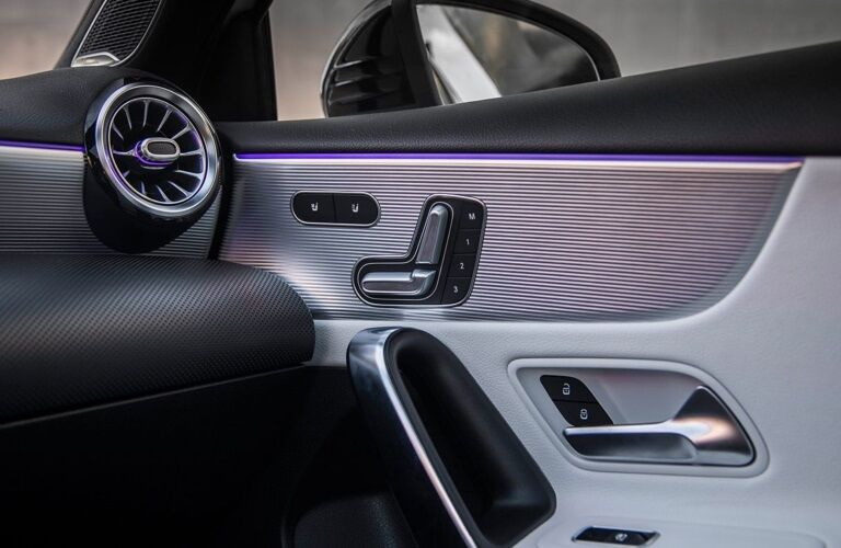 Seat controls in the 2019 Mercedes-Benz A-Class