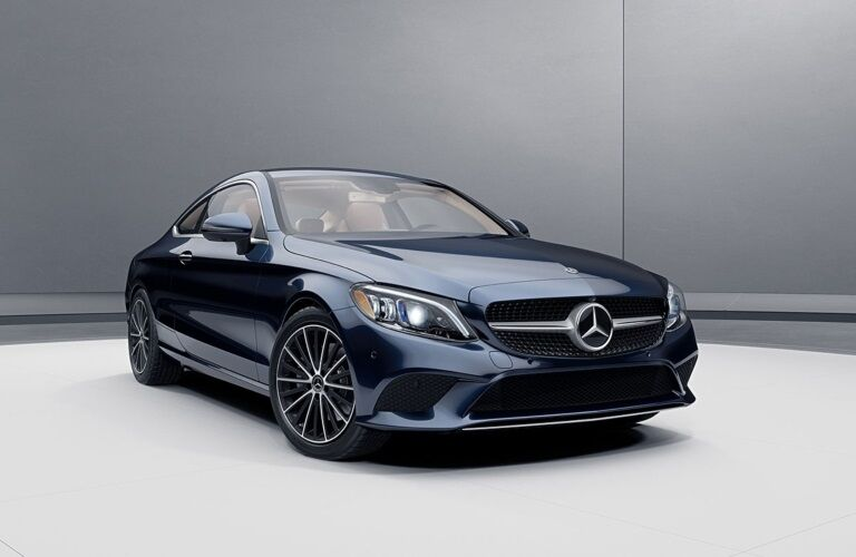 Front view of a 2020 Mercedes-Benz C-Class Coupe