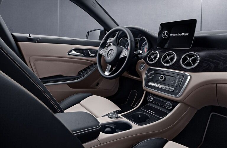 Front seat interior of the 2019 Mercedes-Benz CLA Coupe