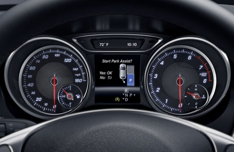 Instrument cluster of the 2019 Mercedes-Benz CLA Coupe
