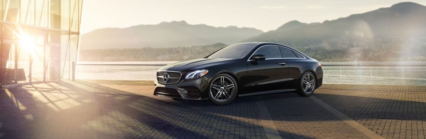 2019 Mercedes-Benz E-Class Coupe next to sunset
