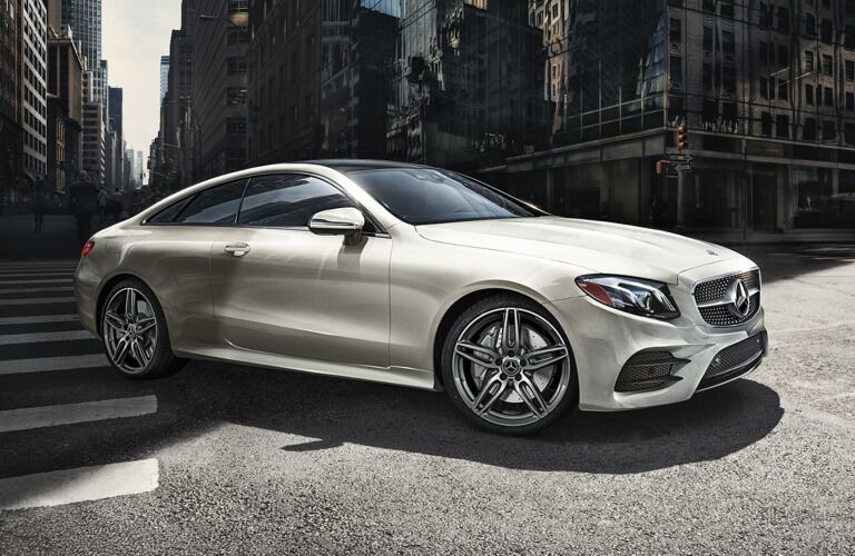 2019 Mercedes-Benz E-Class Coupe driving in the city