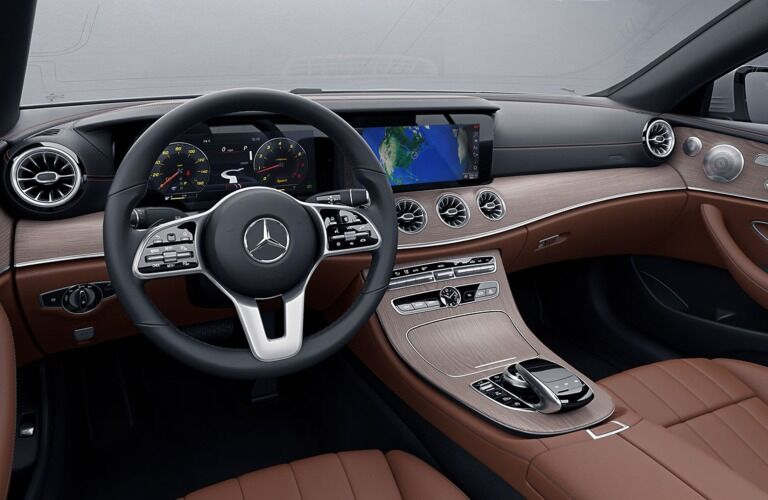 Cockpit view in the 2019 Mercedes-Benz E-Class Coupe