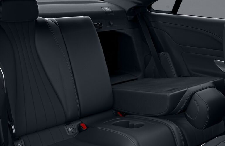 Rear seats in the 2019 Mercedes-Benz E-Class Coupe
