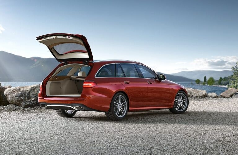 Trunk open on the 2019 Mercedes-Benz E-Class Wagon