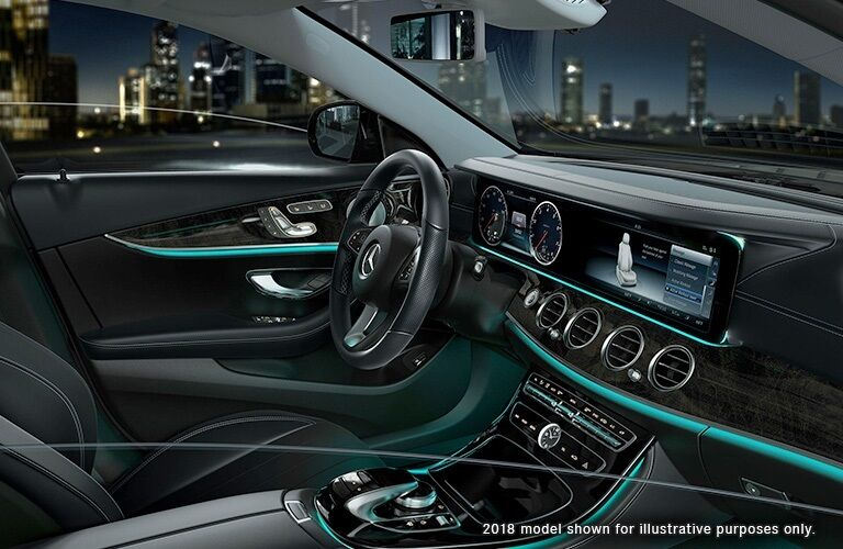 Interior dashboard of the 2018 Mercedes-Benz E-Class