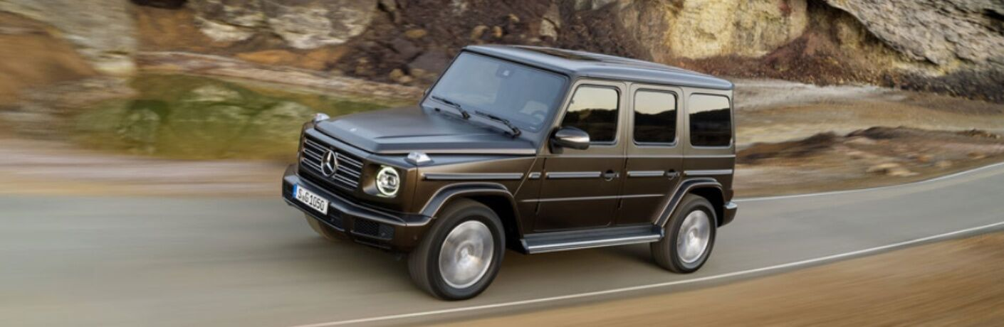 Side view of 2019 Mercedes-Benz G-Class driving on open road