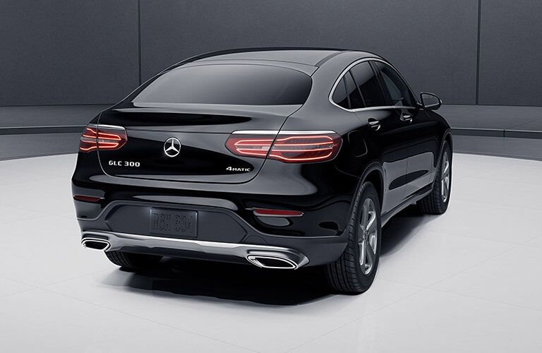 Rear view of a black 2019 Mercedes-Benz GLC Coupe