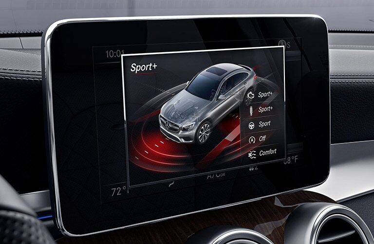 Infotainment system in the 2019 Mercedes-Benz GLC Coupe