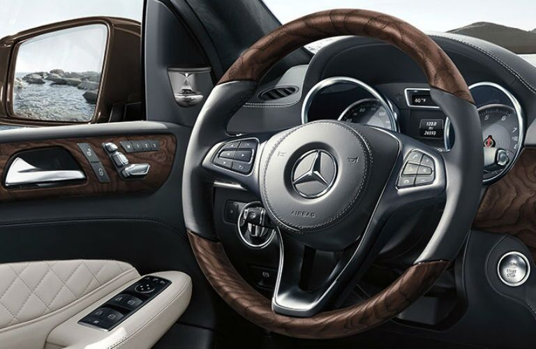Steering wheel of the 2019 Mercedes-Benz GLS