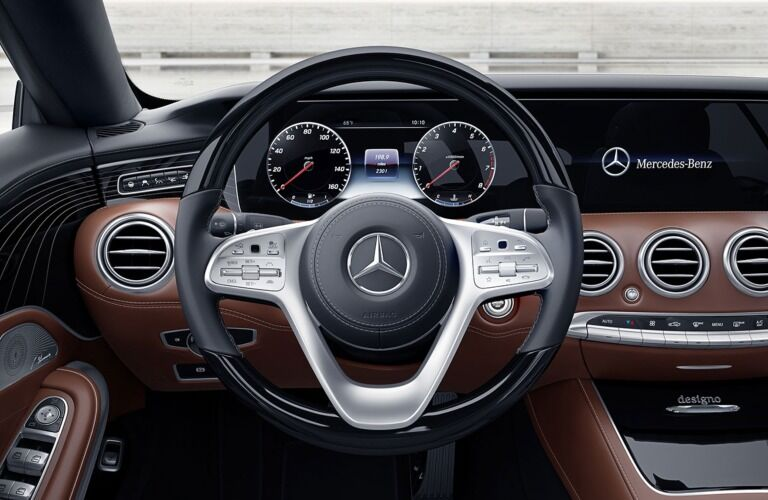 Steering wheel in the 2019 Mercedes-Benz S-Class Coupe