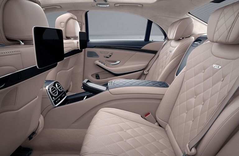 Rear seating in the 2019 Mercedes-Benz S-Class