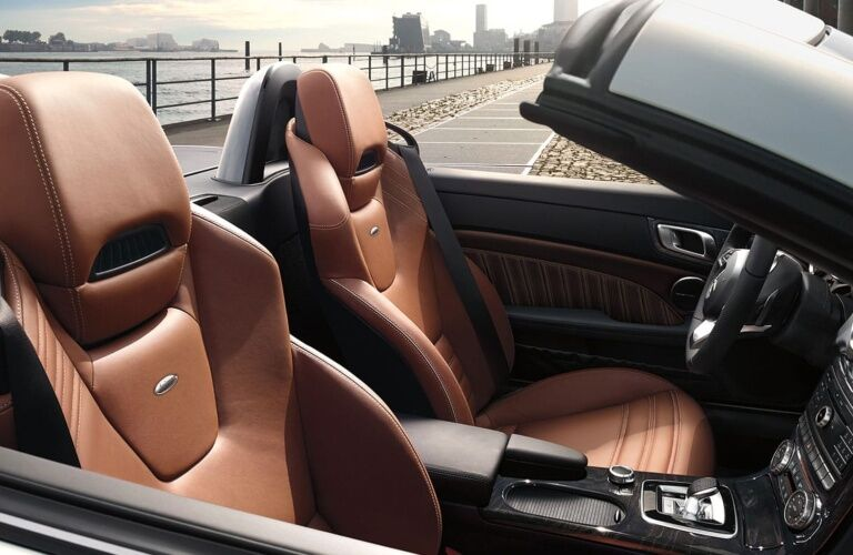 Interior seats of the 2019 Mercedes-Benz SLC