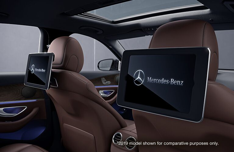 2020 Mercedes-Benz E-Class rear seat display screens