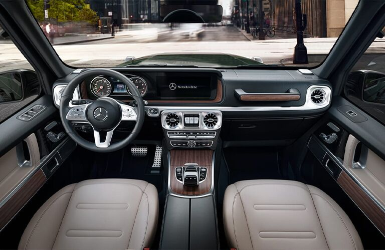 2020 Mercedes-Benz G-Class dashboard and steering wheel