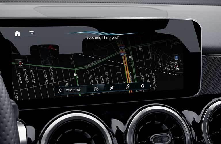 2020 Mercedes-Benz GLB navigation screen