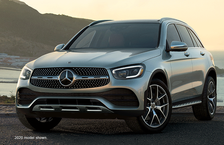 Exterior front and side view of the 2020 Mercedes-Benz GLC