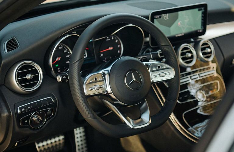 2020 Mercedes-Benz C-Class steering wheel