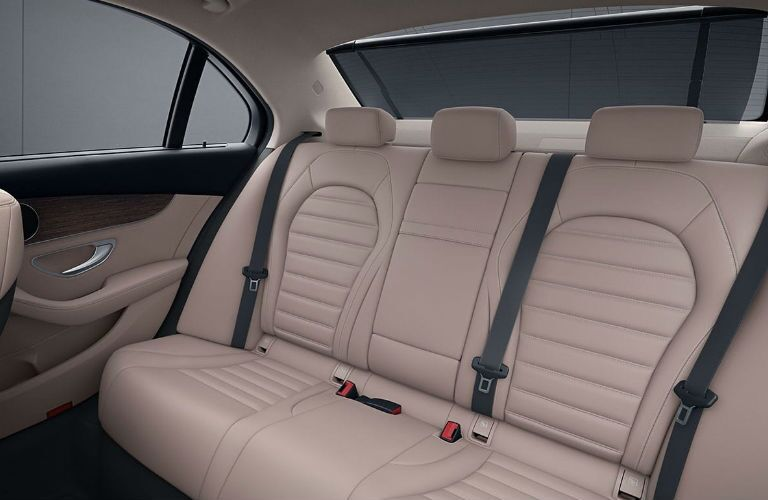 2020 Mercedes-Benz C-Class rear passenger seats