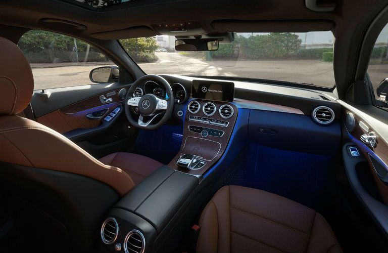 2020 Mercedes-Benz C-Class dashboard and steering wheel